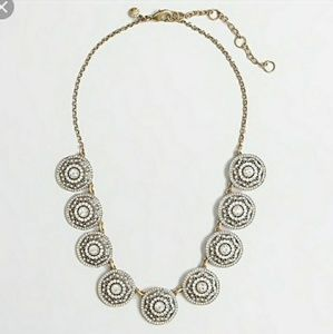 J Crew Factory Round Crystal Statement Necklace